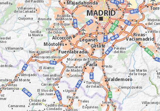 mapa madrid sur